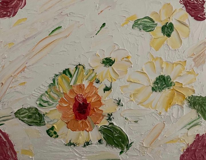 Abstract flowers by Dani oils - Hallie's Creations
