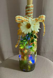 Fall inspired fairy light bottle