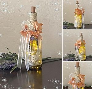 Autumn Fairy Light Bottle