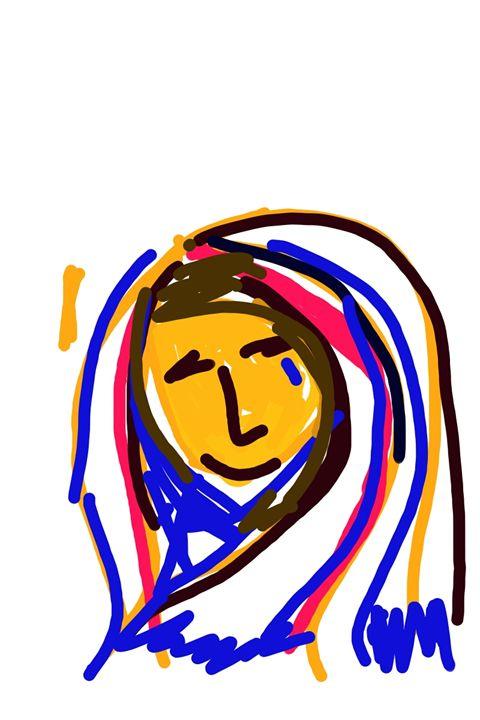 woman in shari - art show