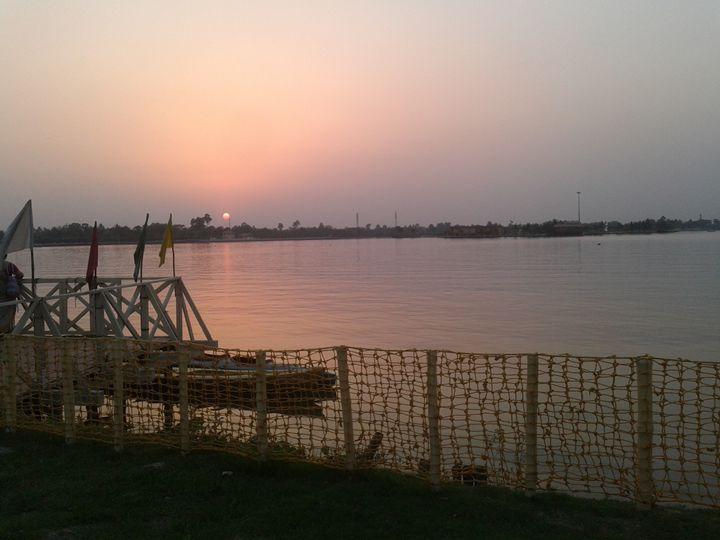 Sun set - art show