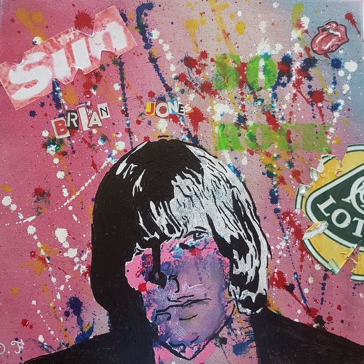 27 Forever club. Brian Jones - D.F pop art