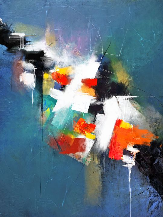 Escaping Reality - Abstract Painting - Modern Abstract Painter - Interior Designer
