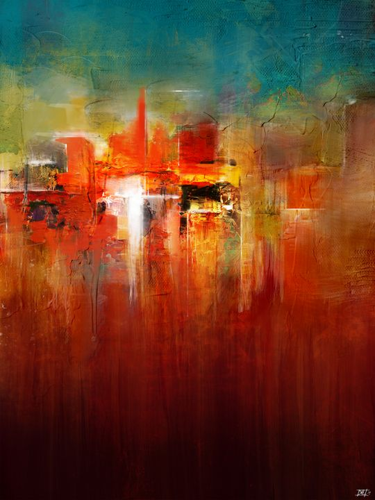 Downtown China Market Abstract - Modern Abstract Painter - Interior Designer