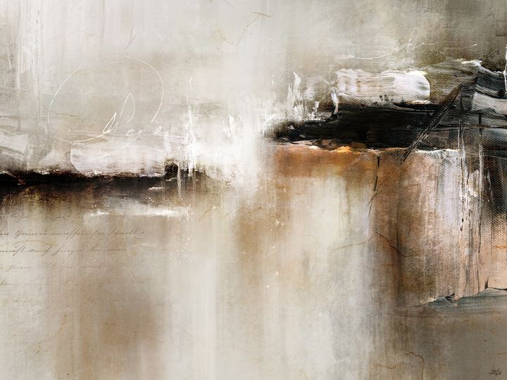 Abstract Painting - Words In Stone - Modern Abstract Painter - Interior Designer
