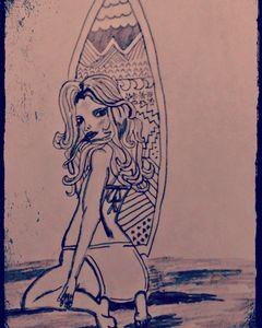Surfer chick