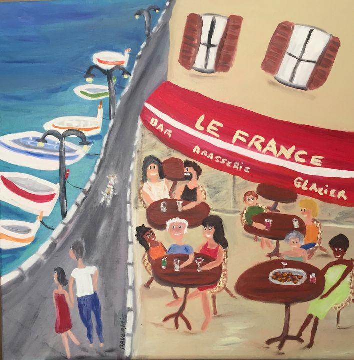"""""""Bar le France"""" à Cassis"""" - Virginie Pavlakis"""