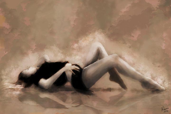 Curve girl - Paintings by Elena Yulkina