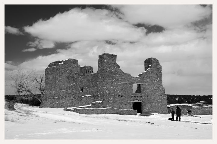 winter snow quarai ruins new mexico - Mark Goebel Photo Gallery