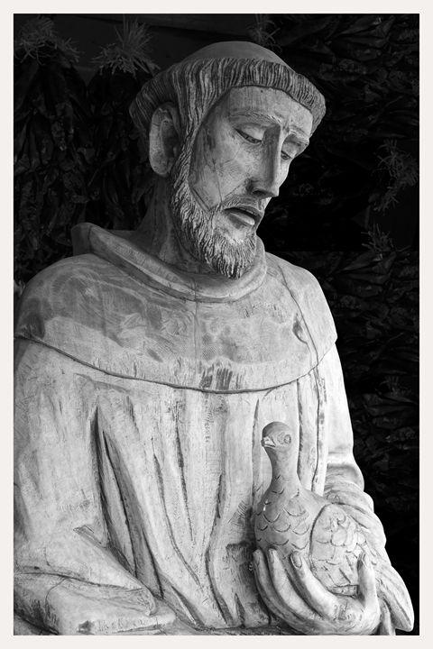 Wood sculpture of Saint Francis - Mark Goebel Photo Gallery