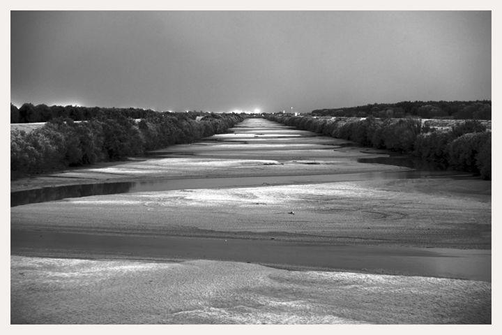 Rio Grande at Night, Las Cruces, NM - Mark Goebel Photo Gallery
