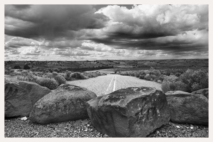 Rocks Block Road Passage, Taos, NM - Mark Goebel Photo Gallery