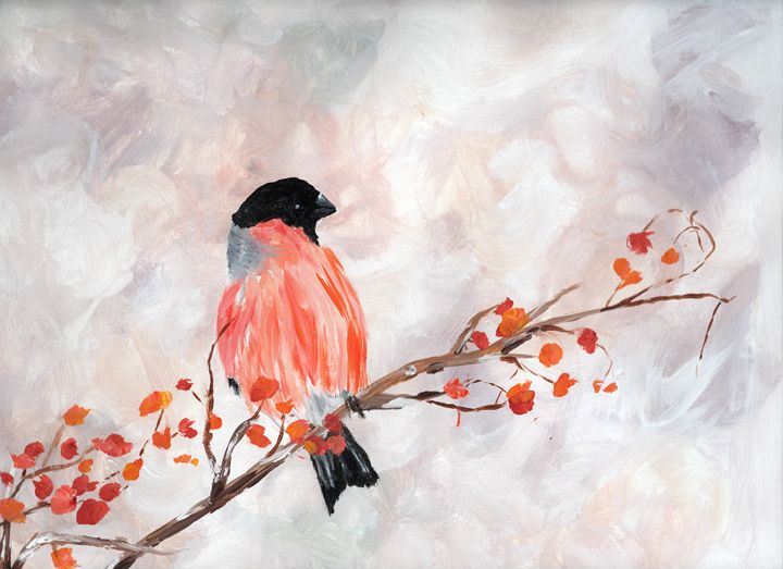 Bird on Branch - Lindsay Sthamann