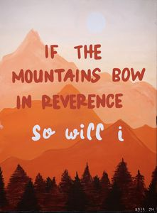 If the Mountains Bow in Reverence
