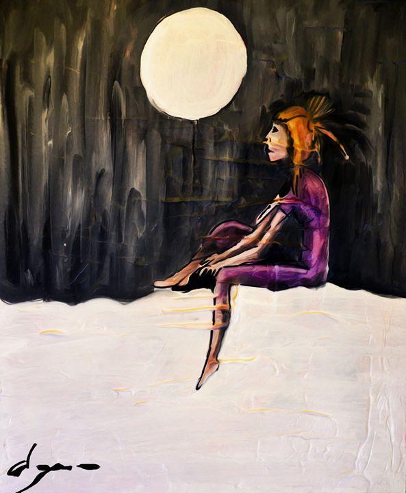 flicka och månen - Alejandro D