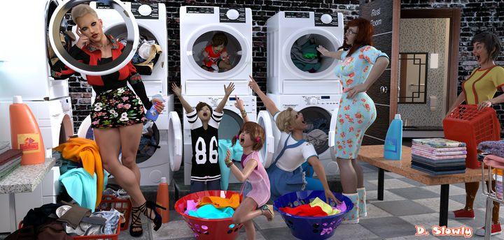 Laundry Chaos - GalleryGazers