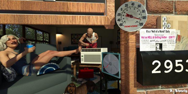 Broken Air Conditioner - GalleryGazers