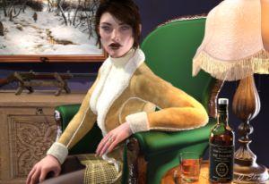 Portrait Women in a Shearing Coat