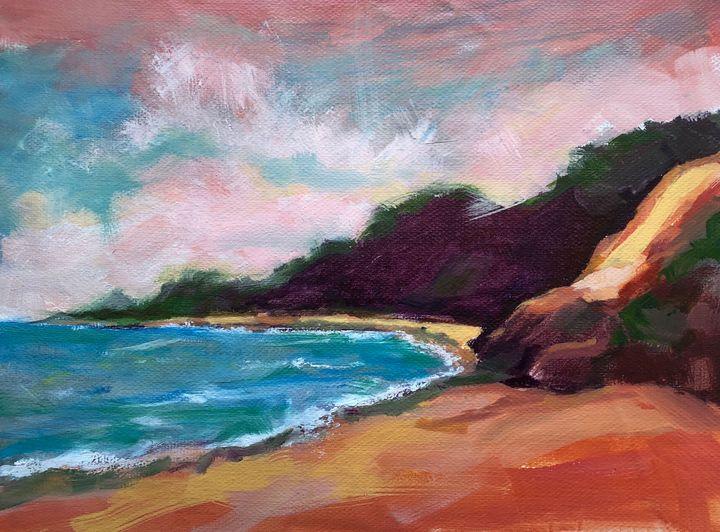 Half Moon Bay #2 - Roz McQuillan Paintings, Drawings & Photographs