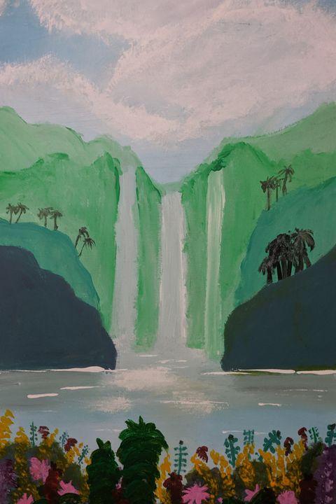 Island Falls - Original Sold - Nokaoi Art