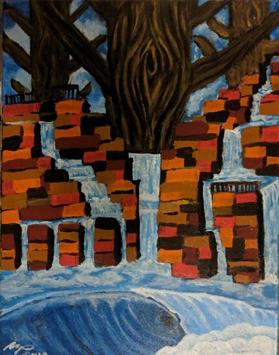 Willow Falls - Original Sold - Nokaoi Art