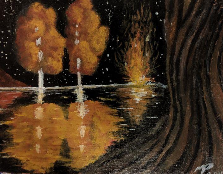 Fire Lake - Nokaoi Art