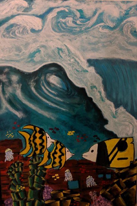 Wave of waves - Original Sold - Nokaoi Art