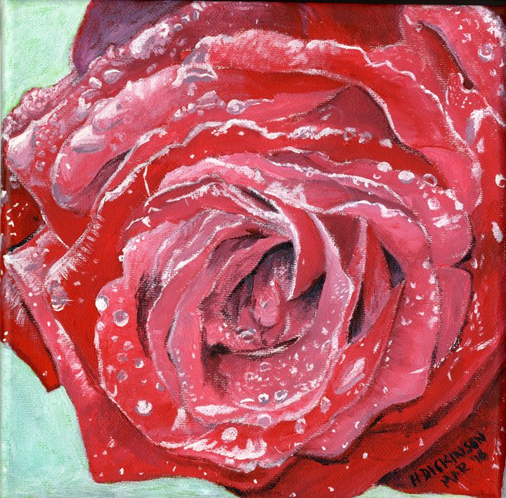 Red Rose - Down To Earth Artwork
