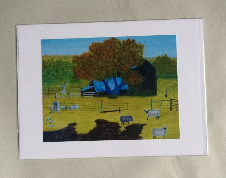 Waterford Barn and Sheep Artwork - Cathy Pierce Payne