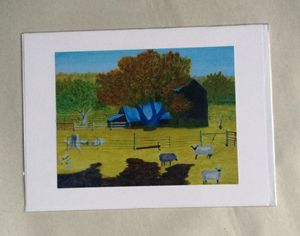 Waterford Barn and Sheep Artwork
