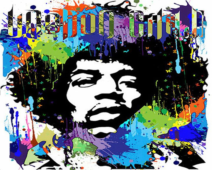 Jimi Hendrix Vector Art - Emyil.G