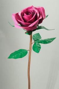 Pink metal and copper rose