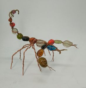 Glass and Copper Scorpion