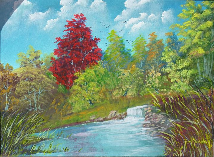 The Red Tree - Jim Jordan Fine Art