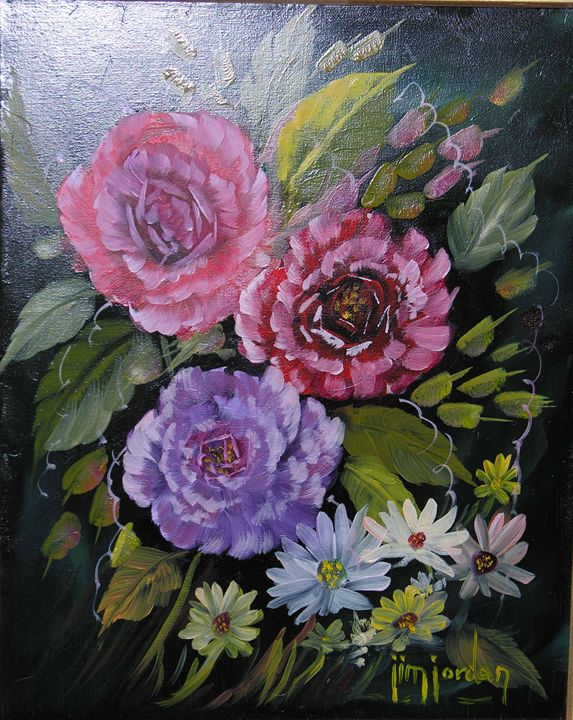 Roses and Wildflowers - Jim Jordan Fine Art