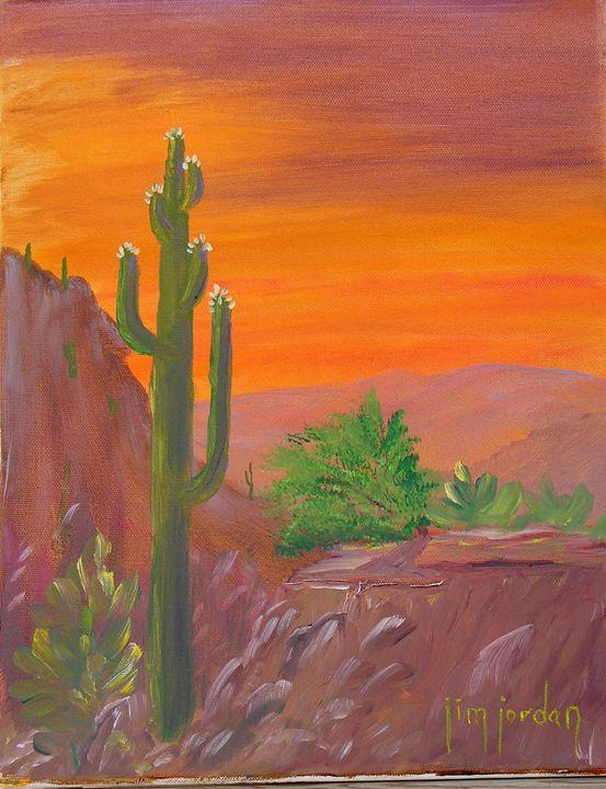 Desert Sunset - Jim Jordan Fine Art
