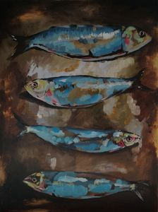 Sardines with golden details