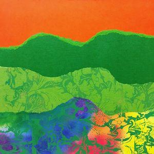 Green Hills Orange Sky - Linda Dubin Garfield Art