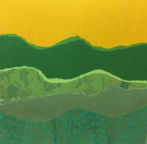Green Hills Yellow Sky