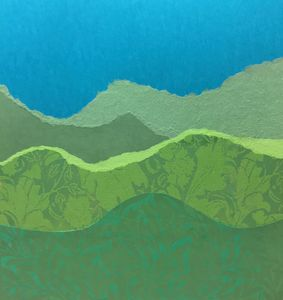 Green Hills Teal Sky