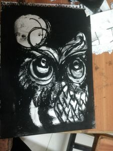 The Owl and The Full Moon