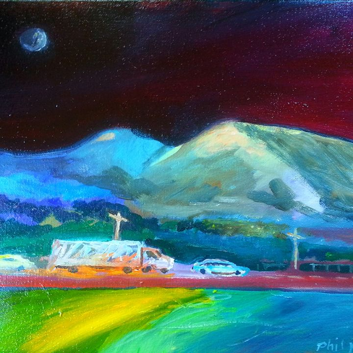 Late night in the boonies - Phil Morrell Artist