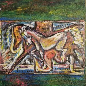 Horses Abstract Vicente Fabre Mixed