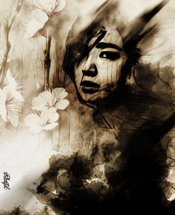 Dark Sakura Girl - Photo Design AJ