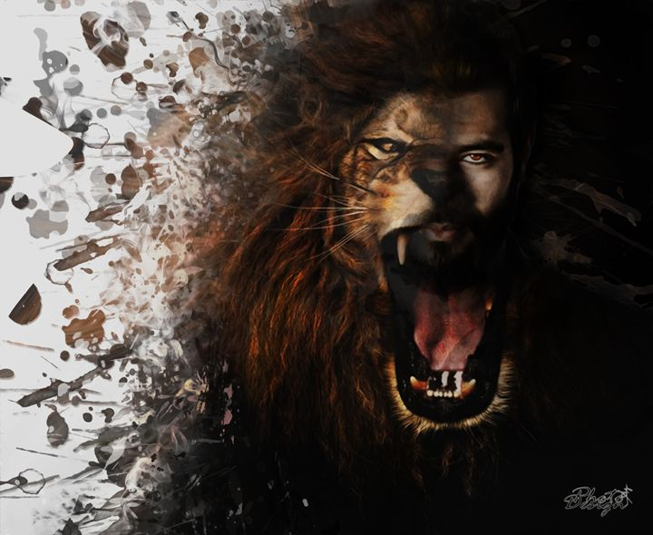 Lion Portrait - Photo Design AJ