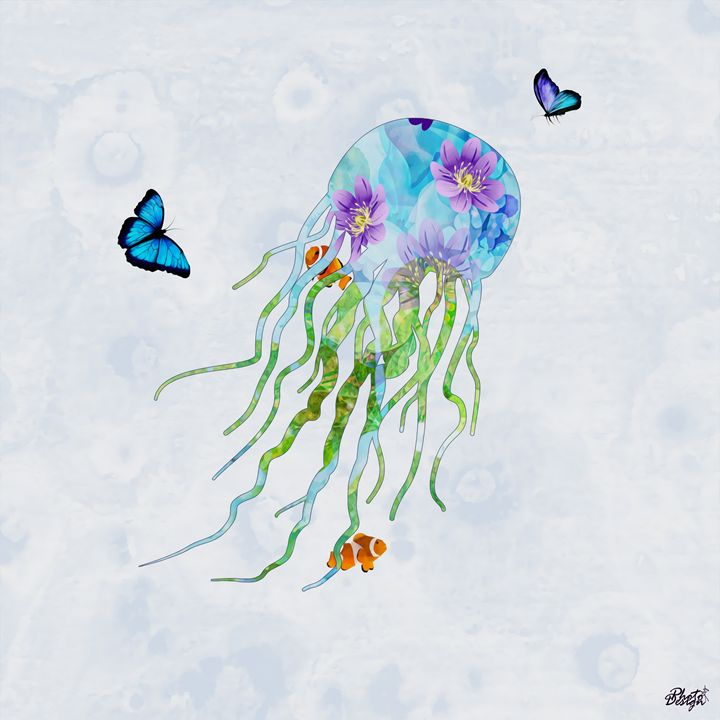 Jellyfish Garden - Photo Design AJ