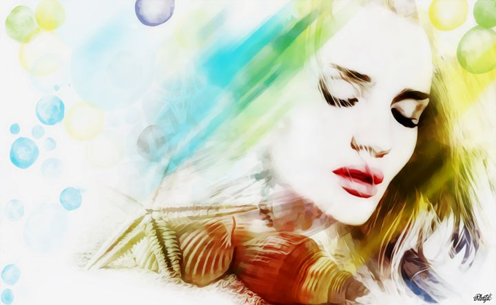 Rosie Huntington Summer time - Photo Design AJ