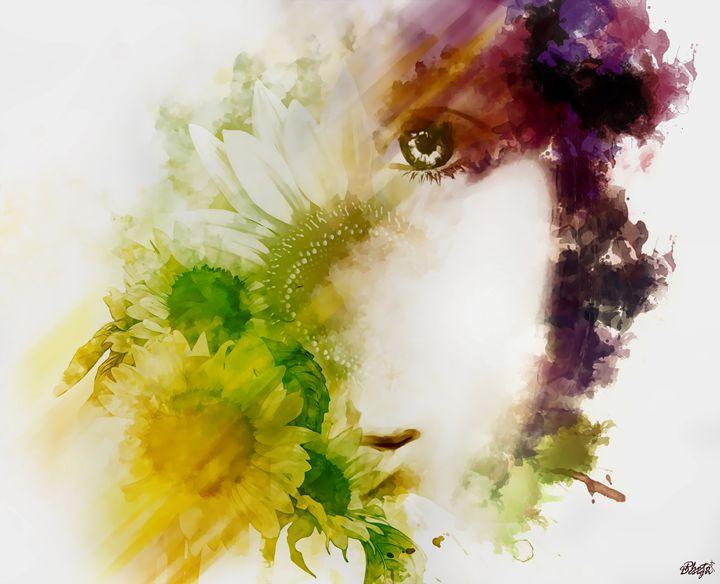 Sunflower Portrait - Photo Design AJ