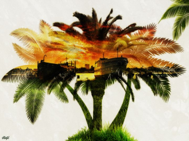 The sunset in the Port - Photo Design AJ