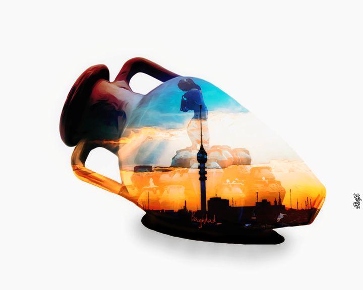 Pottery of Iraq civilization - Photo Design AJ